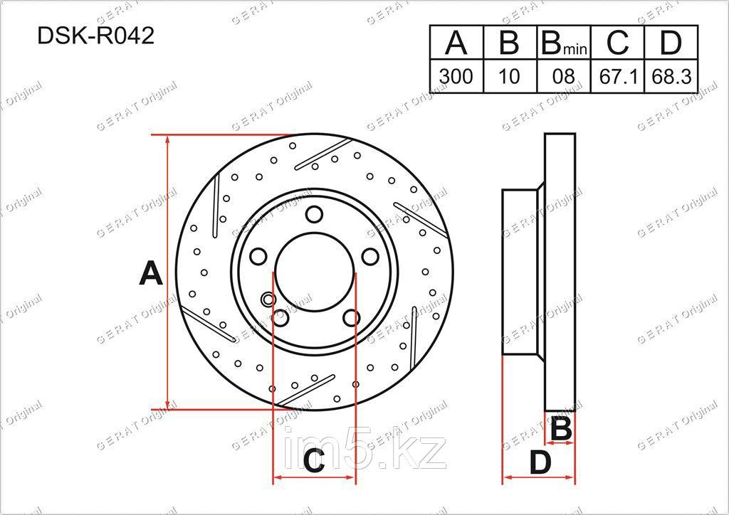 Тормозные диски Audi A6. C6 2004-2011 2.0FSi / 2.4i V6 / 2.8FSi