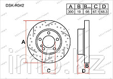 Тормозные диски Audi A6. C6 2004-2011 2.0FSi / 2.4i V6 / 2.8FSi (Задние)