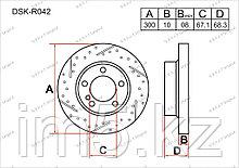 Тормозные диски Mercedes E-Класс. W211 2002-2009 2.2CDi (Задние)