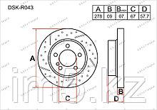 Тормозные диски Mercedes C-Класс. W204 2007-Н.В 1.8i / 2.0i (Задние)