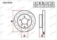 Тормозные диски Mitsubishi Lancer Evolution. X пок. 2008-Н.В 1.8i (Задние)