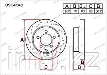 Тормозные диски Mitsubishi Lancer. X пок. 2007-2013 1.6i / 2.0i (Задние)