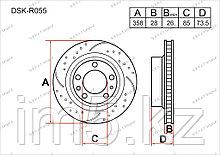 Тормозные диски Audi Q7. I пок. 2006-Н.В 3.0TFSi / 4.2FSi V8 (Задние)