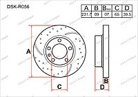 Тормозные диски Audi A3. 8L 1996-2003 1.9TDi (Задние)