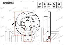 Тормозные диски Seat Cordoba. 6L 2002-2008 1.9D (Задние)