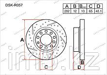 Тормозные диски Volkswagen Eos. I пок. 2006-Н.В 2.0i (Задние)