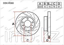 Тормозные диски Nissan Murano. Z50 2003-2008 3.5i V6 (Задние)