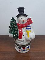 Шкатулка снеговик СНГ0177