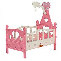 Кроватка сборная для кукол №3 (6 элементов) (в пакете)