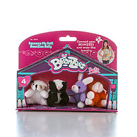 "Игрушка Beanzees мини плюш в наборе ""Песик, Скунс, Кролик, Котик"""