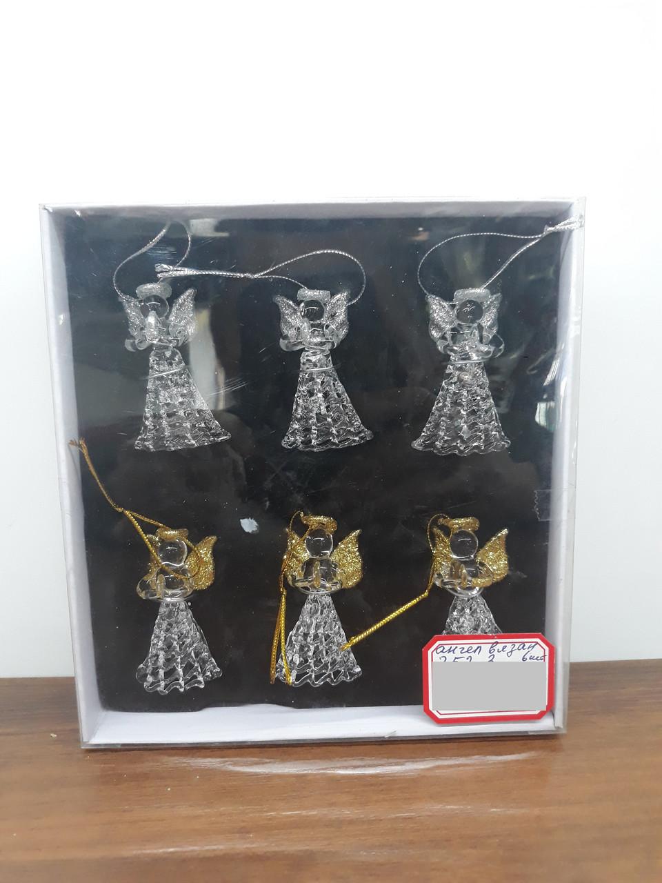 Игрушки на ёлку ангелочки СНГ0182