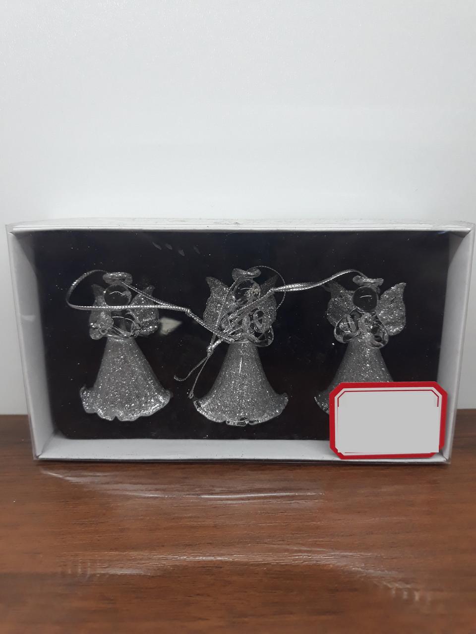 Игрушки на ёлку ангелочки СНГ0183