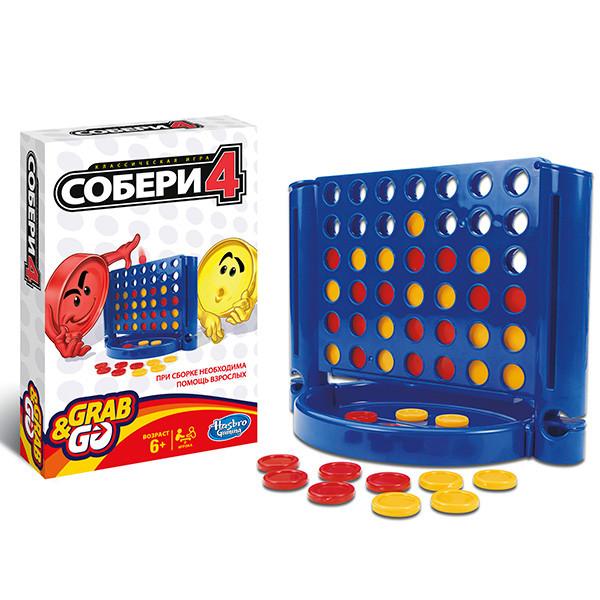Настольная игра дорожная Собери 4