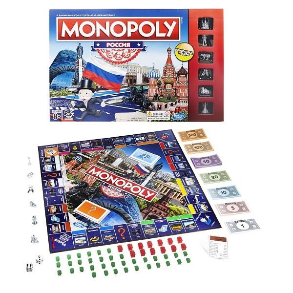 Настольная игра Hasbro Games Монополия Россия (новая уникальная версия)