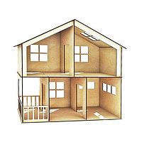 Кукольный домик двухэтажный с верандой
