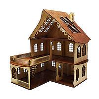 Кукольный домик, 3 этажа с балконом, без мебели, 52х45х45 см, фото 1