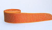 Лента эластичная, оранжевая, 4 см