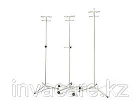 Штатив для длит. инфуз. вливаний на трех опорах ШВ2-03-«Ока-Медик»(телескоп. верх нерж., под 2 фл)