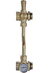 "ТП Байпас 1"" проходной с перепускным клапаном и термометром RVC Pro"