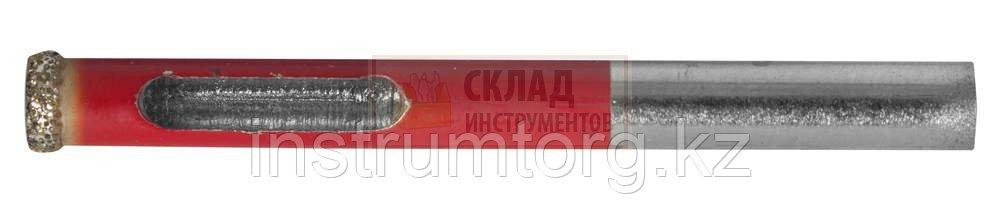 Сверло алмазное трубчатое по кафелю и стеклу, d=8 мм, зерно Р 60, ЗУБР Профессионал 29850-08