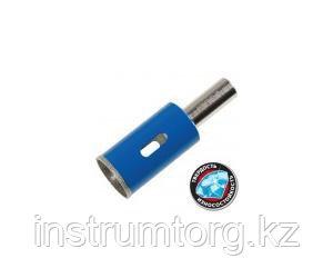 Сверло алмазное трубчатое по стеклу и кафелю, d=25 мм, зерно Р 100, ЗУБР Профессионал 29860-25