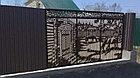 Металлические ворота с применением лазерной резки металла, фото 5