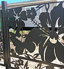 Металлические ворота с применением лазерной резки металла, фото 6