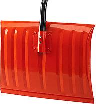Лопата снеговая стальная с металлическим черенком и V-образной ручкой, 465мм, оранжевая, СИБИН 421849, фото 3