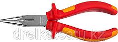 """Тонкогубцы """"ELECTRO-KRAFT"""", Cr-Mo сталь, двухкомпонентная маслобензостойкая рукоятка, хромированное покрытие"""