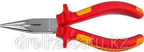 """Тонкогубцы """"ELECTRO-KRAFT"""", Cr-Mo сталь, двухкомпонентная маслобензостойкая рукоятка, хромированное покрытие, фото 2"""