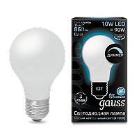 Лампа GAUSS LED FILAMENT  A60 OPAL DIMMABLE E27 4100 К