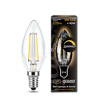 Лампа GAUSS LED FILAMENT CANDLE DIMMABLE E14  2700 К