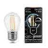 Лампа GAUSS LED FILAMENT GLOBE DIMMABLE E27  4100K