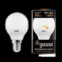 Лампа GAUSS LED GLOBE-DIM E14  3000К