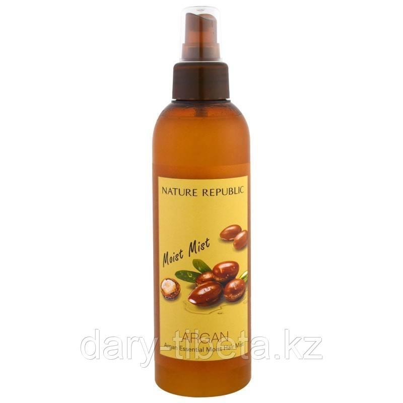 Nature Republic Argan Essential Moist Hair Mist- Мист для волос с аргановым маслом