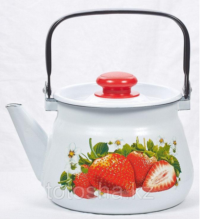 Чайник эмалированный Сочная клубника в ассортименте (1л,2л,3,5л)