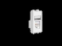 "Компьютерная розетка ""Белое облако"" ""Avanti"" RJ-45 модульная, кат. 6, 1 мод, фото 1"