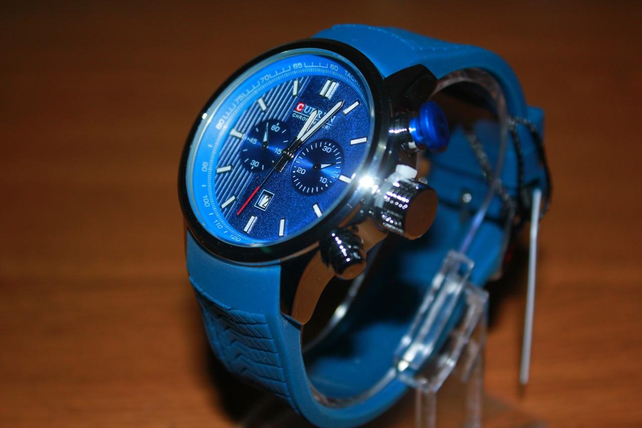 Часы Curren 8175 силиконовый ремешок