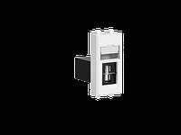 """USB 2.0 розетка """"Белое облако"""" Avanti модульная, тип А-А, 1 мод, фото 1"""