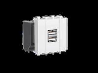 """USB зарядное устройство """"Белое облако"""", """"Avanti"""", 2.1А, 2 мод., фото 1"""