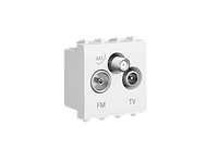 "TV-FM-SAT розетка ""Белое облако"" ""Avanti"", 1 мод, фото 1"