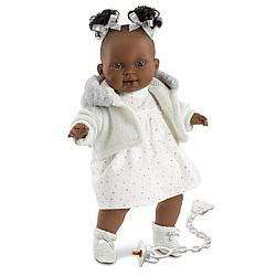 LLORENS: Кукла Диара 38см, афро в белой курточке