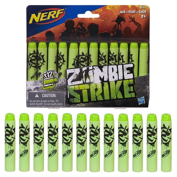 Игрушка Hasbro NERF (НЁРФ) стрелы ЗОМБИ 12 штук