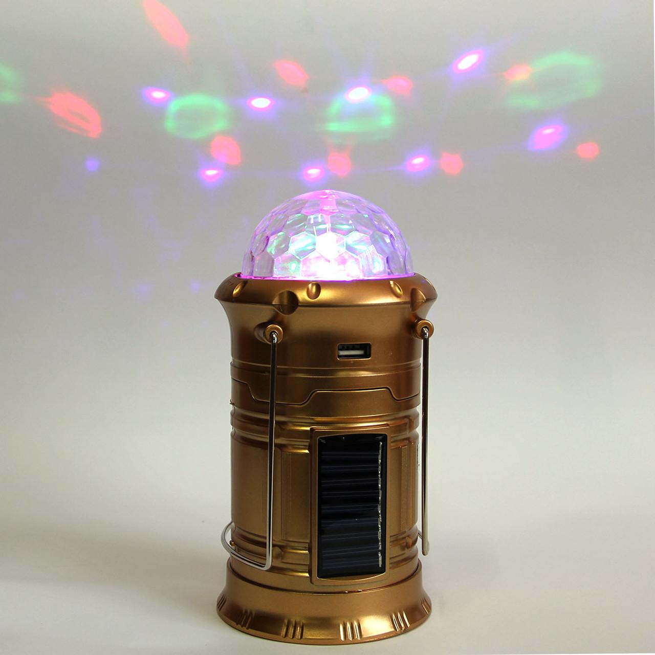 LED лампа фонарь цветомузыка