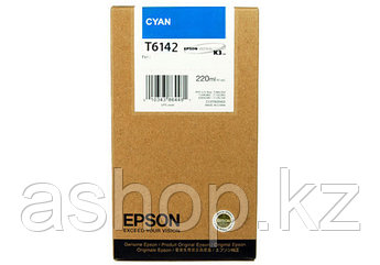 Картридж Epson C13T614200 (№T6142), Объем: 220 мл, Цвет: Голубой, Совместимость: Stylus Pro 4400, 4450