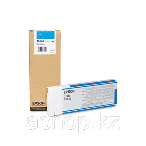Картридж Epson C13T606200 (№T6062), Объем: 220 мл, Цвет: Голубой, Совместимость: Stylus Pro 4800, 4880