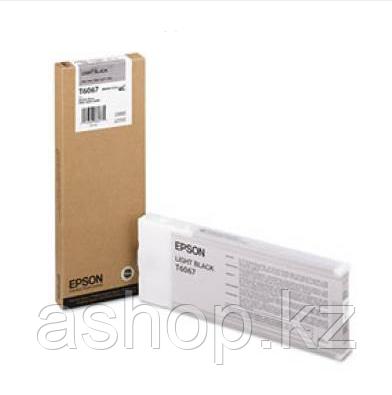 Картридж Epson C13T606700 (№Т 6067), Объем: 220 мл, Копий ( ISO 19752): 700, Цвет: Серый, Совместимость: Stylu