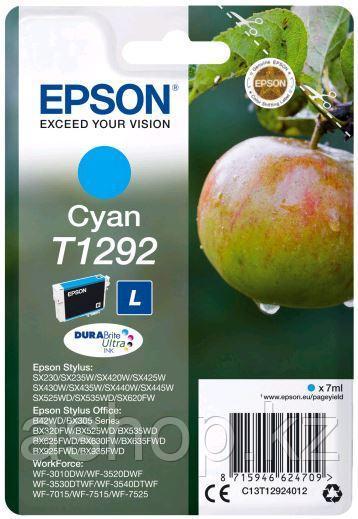 Картридж Epson C13T12924012 (№T1292L), Объем: 7 мл, Копий ( ISO 19752): 460, Цвет: Голубой, Совместимость: Sty