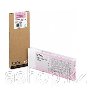 Картридж Epson C13T606600 (№Т 6066), Объем: 220 мл, Копий ( ISO 19752): 700, Цвет: Светло-пурпурный, Совместим