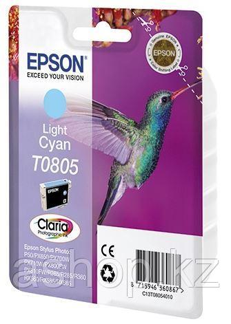 Картридж Epson C13T08054011 (№T0805), Объем: 7,4 мл, Копий ( ISO 19752): 330, Цвет: Светло-голубой, Совместимо